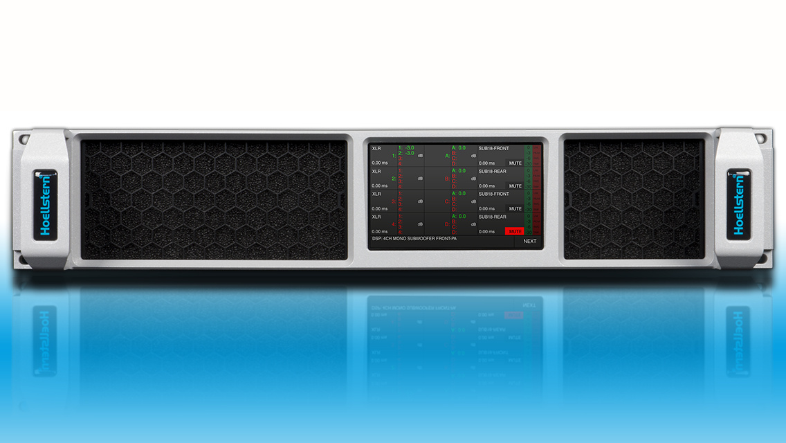 Hoellstern 2-channel DSP audio amplifier with TFT display